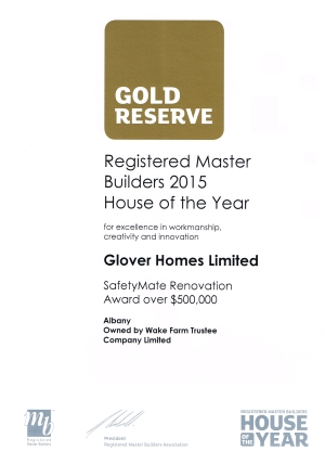 HOY 2015 Gold Reserve Cert lowres