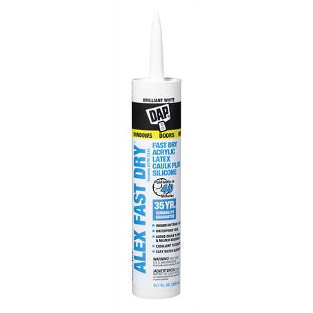 DAP Alex Fast Dry Caulk White Cartridge 300ml