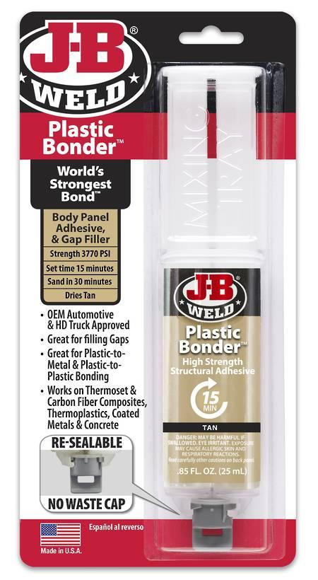 JB Weld Plastic-Bonder Syringe 25ml