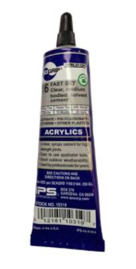 WELD-ON 16 Acrylic Plastic Cement 45ml (small tube)