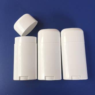 Plastic deodorant tubes