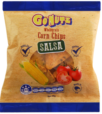 Corn Chips Wholegrain Salsa GF 38g - 24 Units