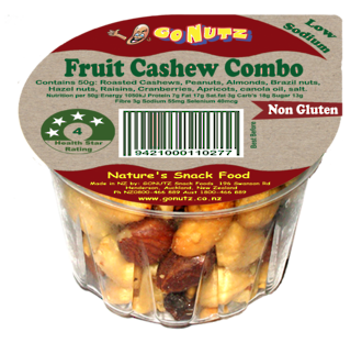Fruit Cashew Combo Tub 50g - 12 Tray