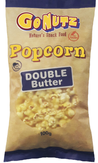 Popcorn Double Butter GF 100g bag - 9 Units