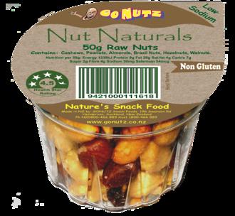 Nut Naturals Tub 50g - 18 Ctn