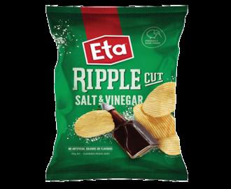 ETA Chips Ripple Cut Salt & Vinegar 40g - 24 Ctn