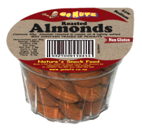 Almonds Roasted Salted Tub 45g - 18 Ctn