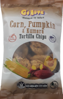 Corn, Pumpkin & Kumara Tortilla Chips 150g -6 box display