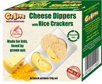 Dippers Rice Crackers & Cheese 114g - 12 Multipack