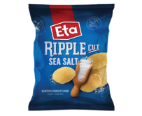 ETA Chips Ripple Cut Sea Salt 40g - 24 Ctn