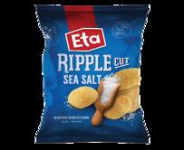 ETA Chips Ripple Cut Sea Salt 40g - 24 Ctn