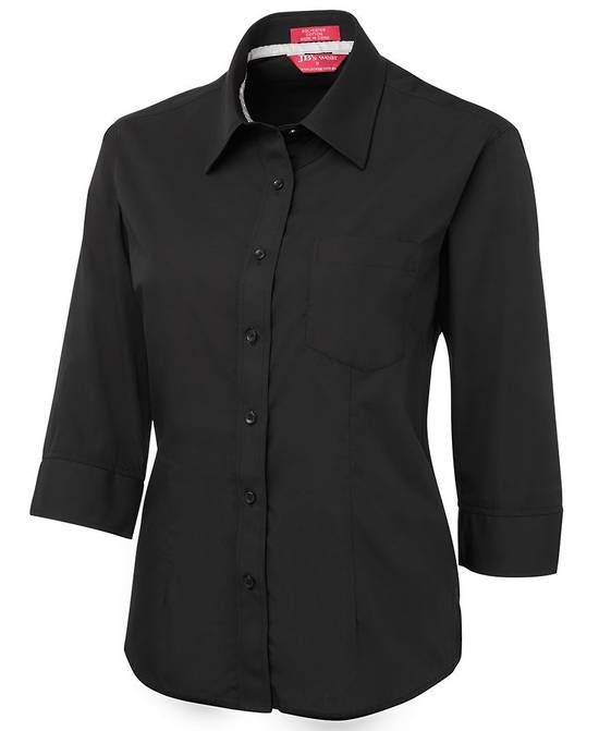 LADIES CONTRAST PLACKET 3/4 SHIRT 4PCL3