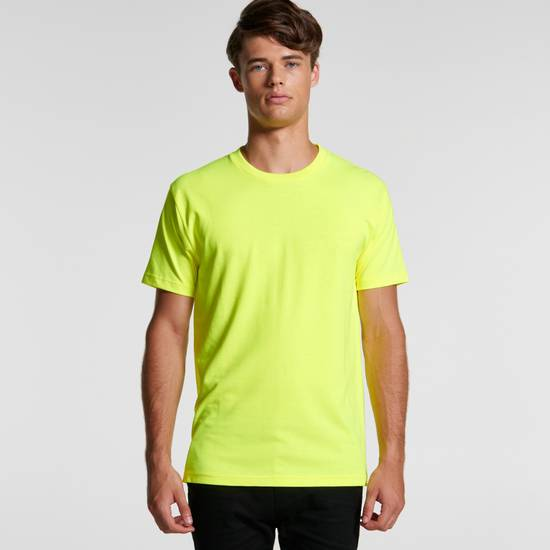 5050F - Mens Block Tee (Safety Colours)