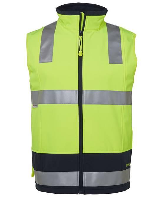 6D4LK Hi Vis (D+N) Softshell Vest
