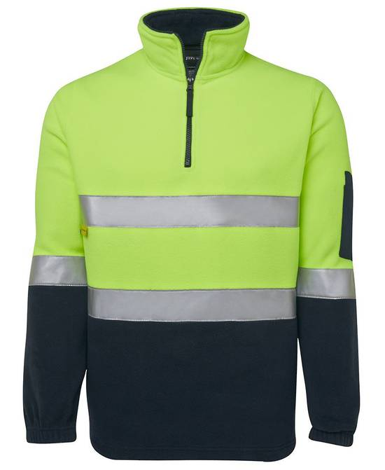 6DNPF Hi Vis (D+N) 1/2 Zip Polar Fleece