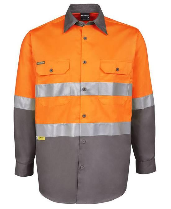 6DNWL Hi Vis L/S (D+N) 150G Work Shirt