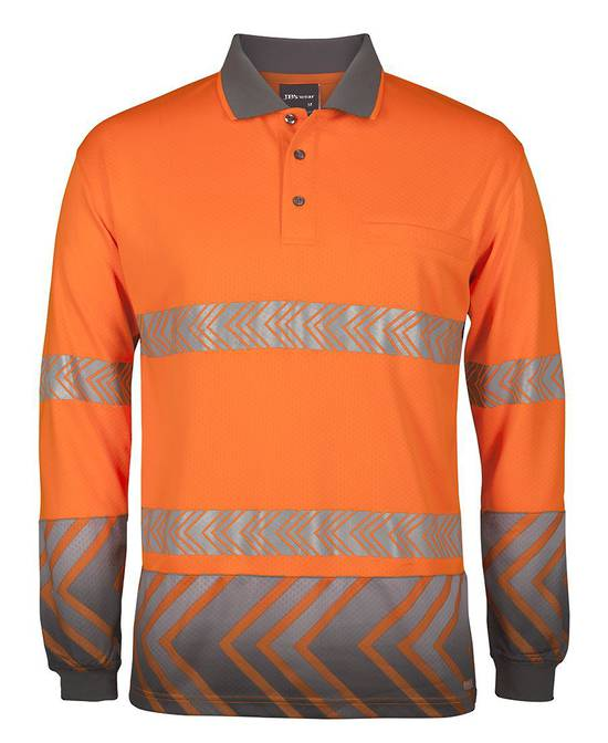 6HAL JB's L/S ARROW SUB POLO WITH SEGMENTED TAPE