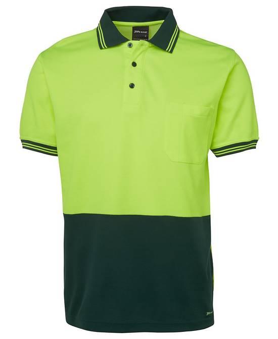 6HPS Hi Vis S/S Cotton Back Polo