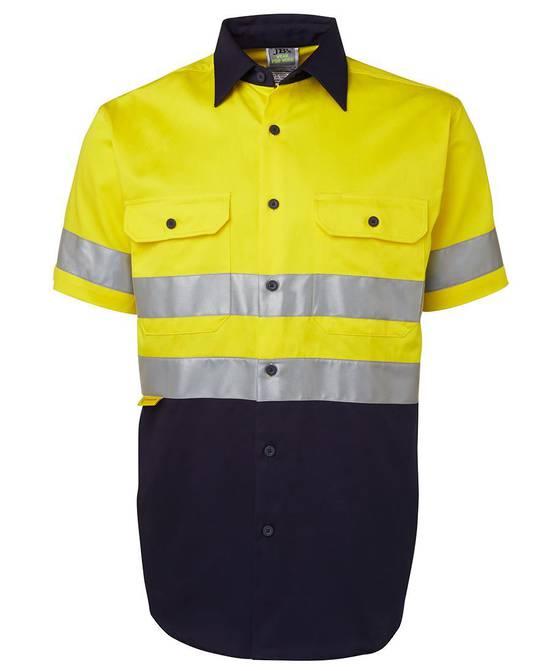 6HSS Hi Vis (D+N) S/S 190G Shirt