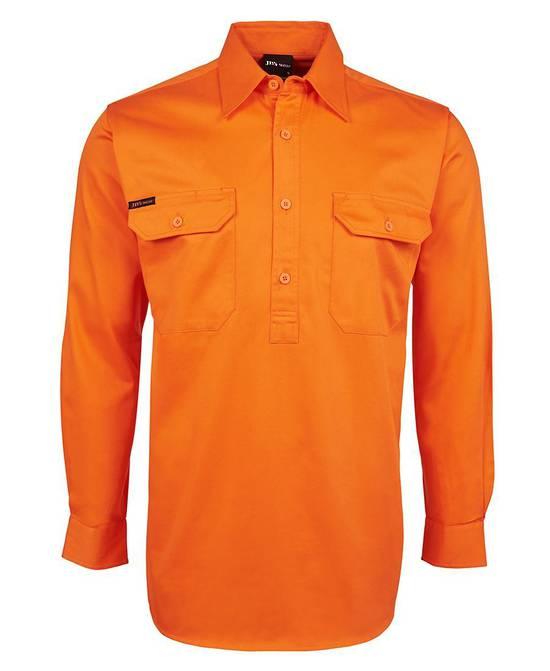 6HVCF Hi Vis L/S 190g Close Front Shirt