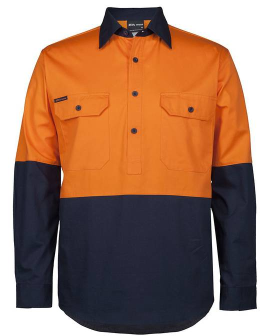 6HVCS J HV CLOSE FRONT L/S 150G WORK SHIRT