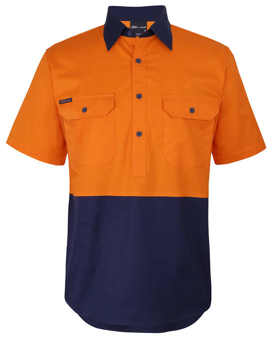 6HVCW  HV CLOSE FRONT S/S 150G WORK SHIRT