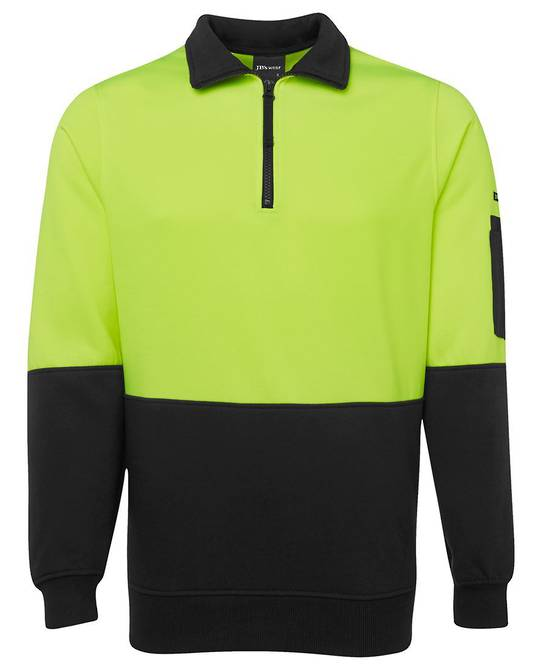 6HVFH Hi Vis 1/2 Zip Fleecy Sweat