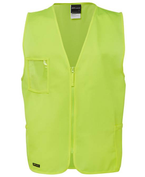 6HVSZ Hi Vis Zip Safety Vest