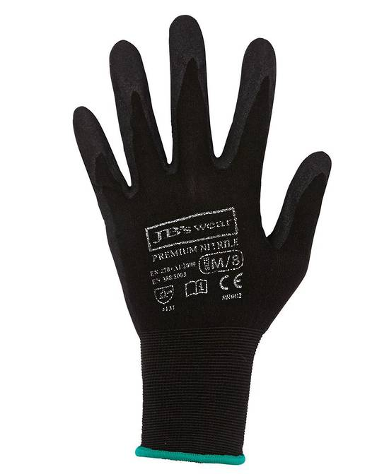 PREMIUM BLACK NITRILE BREATHABLE GLOVE (12 PACK) 8R002