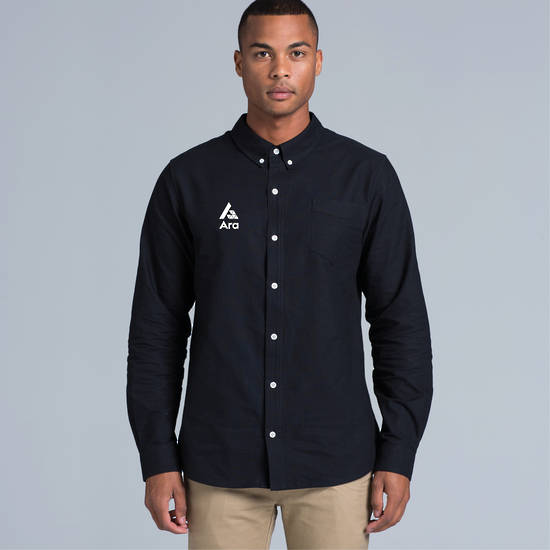 ARA Men's Cotton Oxford Shirt