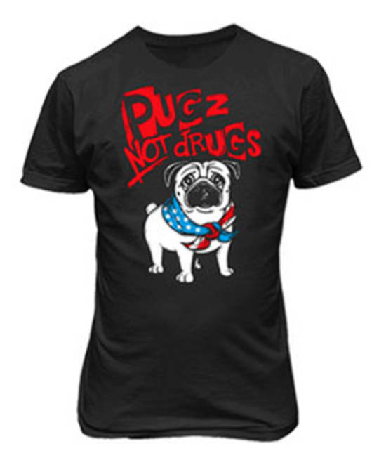 MEN'S PUGZ NOT DRUGS TEE