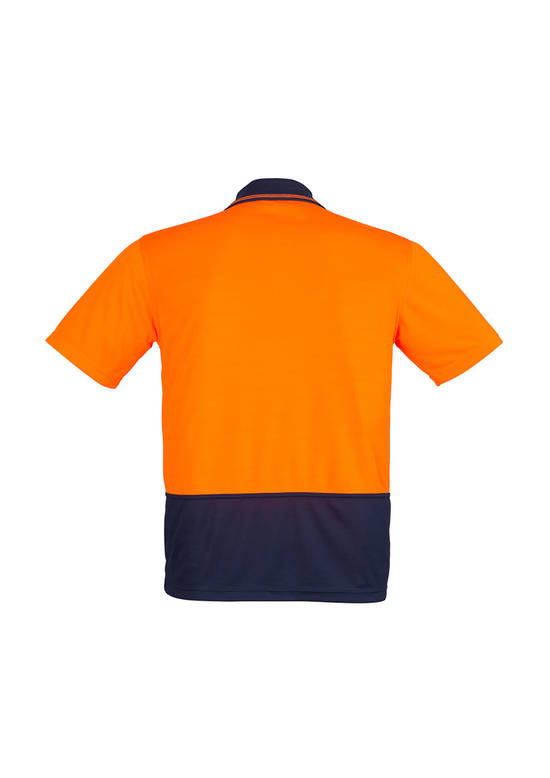 ZH231 Unisex Hi Vis Basic Spliced Polo - Short Sleeve