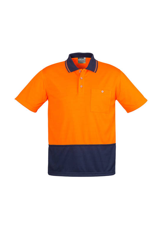 ZH231 Unisex Hi Vis Basic Spliced Polo - Short Sleeve