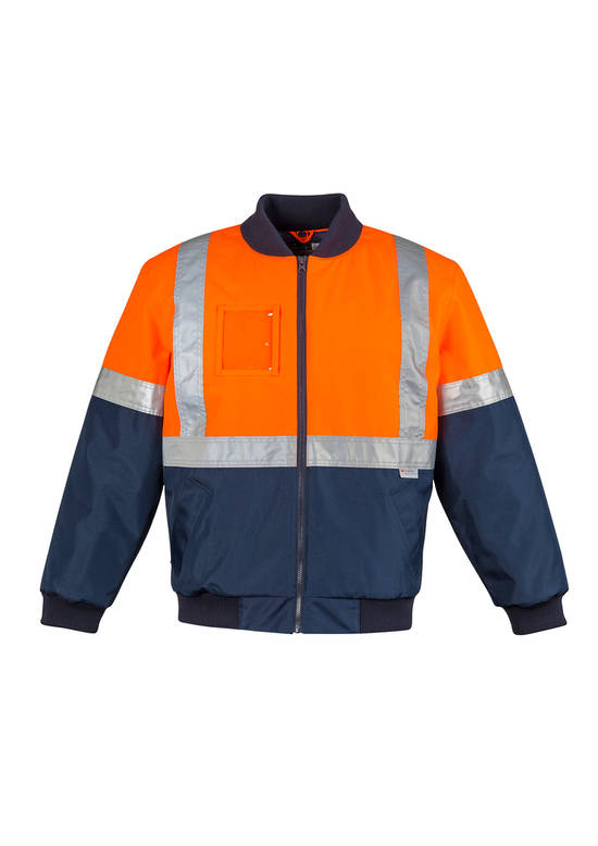 ZJ351 Mens HI Vis Quilted Flying Jacket