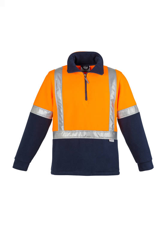 ZT462 Mens Hi Vis Fleece Jumper - Shoulder Taped