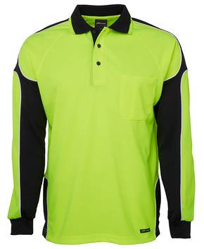 6AP4L Hi Vis L/S Arm Panel Polo
