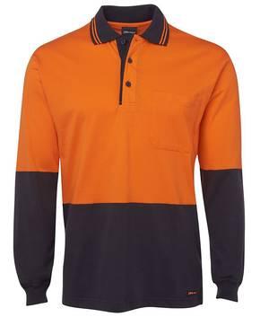6CPHL Hi Vis L/S Cotton Polo