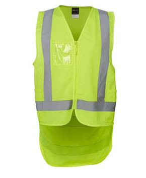 6DNDV Hi Vis Zip Drop Tail (D+N) Vest