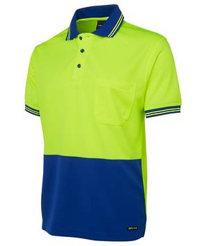 6HVPS Hi Vis S/S Traditional Polo
