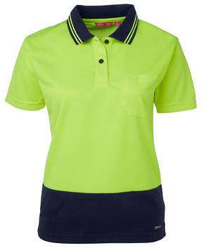 6LHCP Ladies Hi Vis S/S Comfort Polo