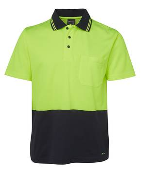 6NCCS Hi Vis Non Cuff S/S Cotton Back