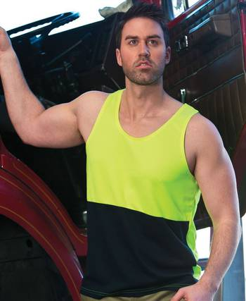 Hi Vis Traditional Singlet with Printing