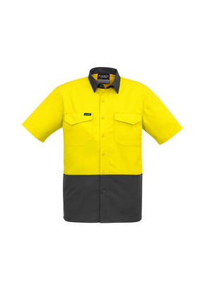 ZW815 Mens Rugged Cooling Hi Vis Spliced S/S Shirt