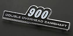 "81-1223 Z1 Side Cover Emblem ""900"" Type B"