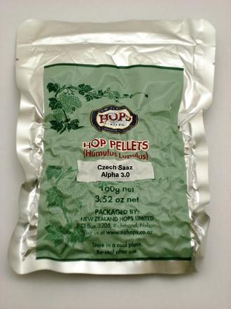 Hop Pellets Czech Saaz 100g