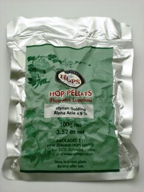 Hop Pellets Styrian Goldings 100g