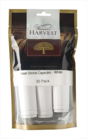 Vintner's Harvest Heat Shrink Capsules - White x30