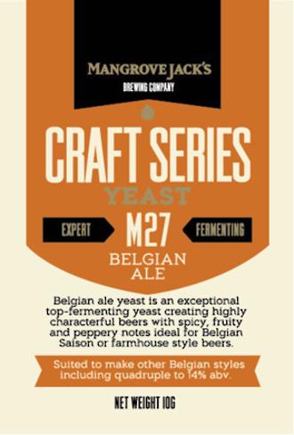 """Mangrove Jack's """"Belgian Ale M27"""" Yeast"""