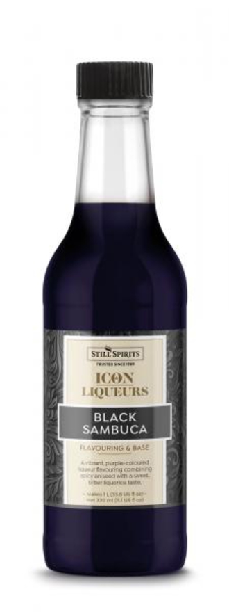Still Spirits Black Sambuca Icon 330ml Bottle