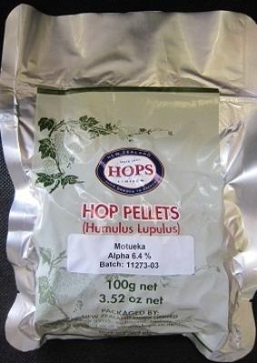 Hop Pellets Motueka 100g